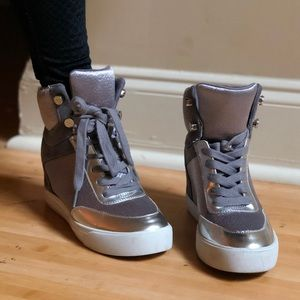 Heeled Grey Sneakers
